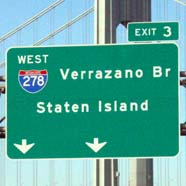 Highway Sign for Verrazon Br Staten Island